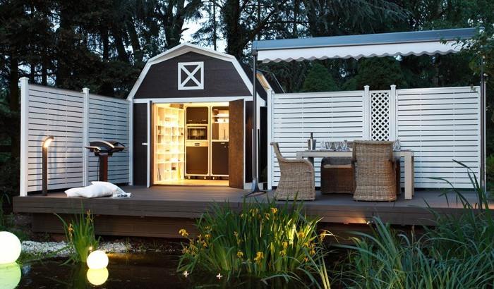 sichtschutzzaun holz hagebaumarkt. Black Bedroom Furniture Sets. Home Design Ideas